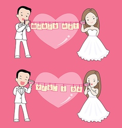 Marry me cartoon vector