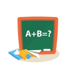 Math lesson education design vector