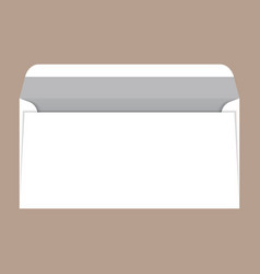 open dl envelope mockup realistic style vector image