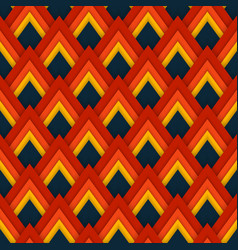 pattern seamless pattern with red rhombuses vector image