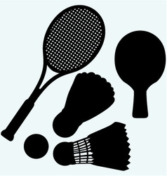 Ping pong tennis and badminton vector image