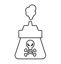 poison icon outline line style vector image