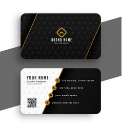 Premium black and gold business card design vector