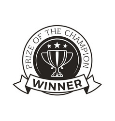 prize of champion winner award vector image