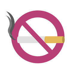 prohibited smoke sign vector image