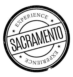 Sacramento stamp rubber grunge vector image