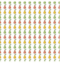 seamless pattern background with red yellow vector image