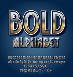 set retro style iron letters vector image