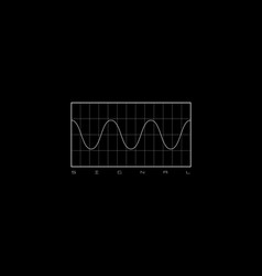 Sinusoid t-shirt and apparel design with a diagram vector