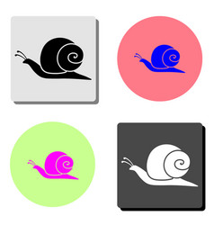 snail flat icon vector image
