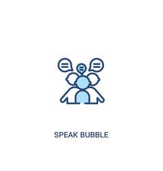 Speak bubble concept 2 colored icon simple line vector