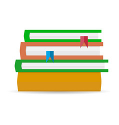 stack of books flat vector image