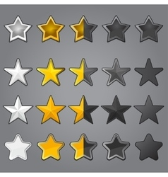 Stars for game interface vector image