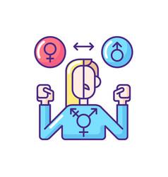 Transgender rgb color icon vector
