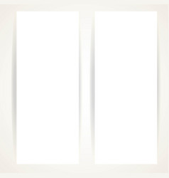 two vertical blank banners on a white background vector image