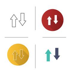 Vertical swap icon vector