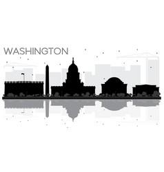 Washington dc city skyline black and white vector