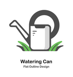 watering can outline flat vector image