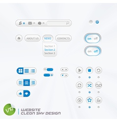Website Clean Sky Design vector image