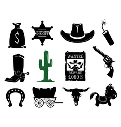Wildwest set vector image