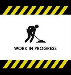 Work in progress road icon vector