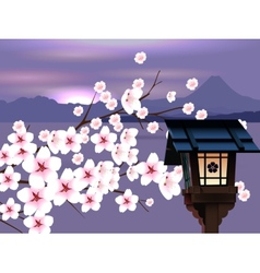Abstract Japanese Landscape vector image vector image