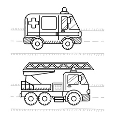 Cars and vehicles coloring book for your kids vector image vector image