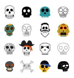 Different skull faces vector image