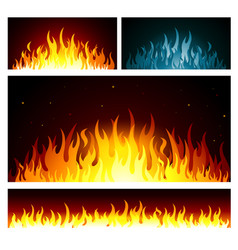 graphic fire flames background vector image