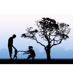 Family walk and happiness of parenthood vector image vector image