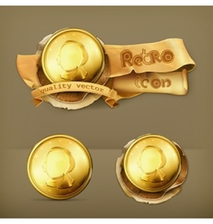 Gold coin icon vector image vector image