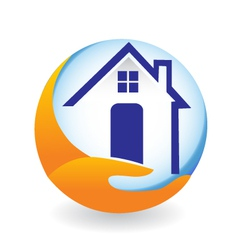 House logo for insurance company vector image vector image