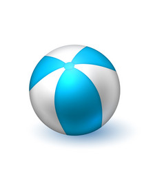 realistic beach inflatable striped ball vector image vector image