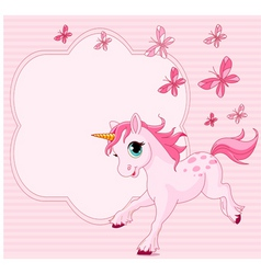 cartoon unicorn vector image