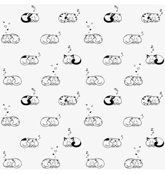 cat seamless vector image vector image