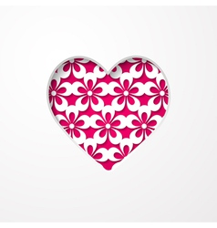 floral background with a heart vector image vector image