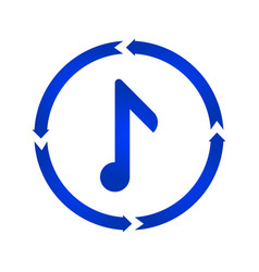 music note turn icon vector image