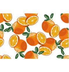 orange seamless pattern on white background vector image vector image