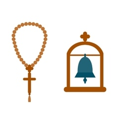 Religion bell hanging in the archway vector image vector image