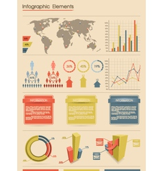 Retro infographic elements vector image vector image
