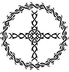 tattoo cross vector image