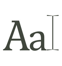 typography icon cartoon style vector image