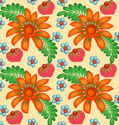 background painted with flowers vector image