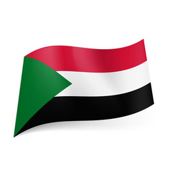 national flag of sudan red white and black vector image vector image