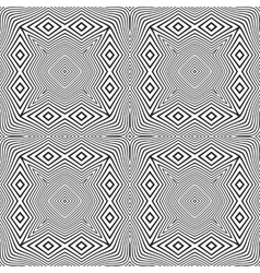 optical art abstract striped seamless deco pattern vector image vector image