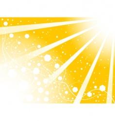 sun background vector image