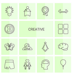 14 creative icons vector