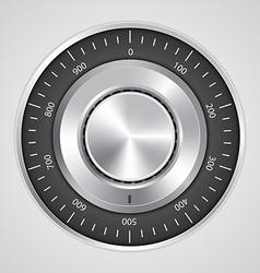 3d realistic combination safe lock vector image
