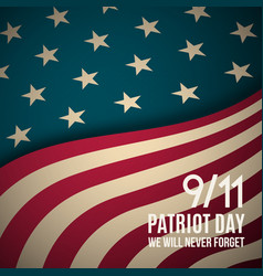 911 patriot day background usa patriot day vector image