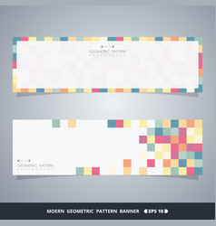 abstract colorful cube banners of modern vector image